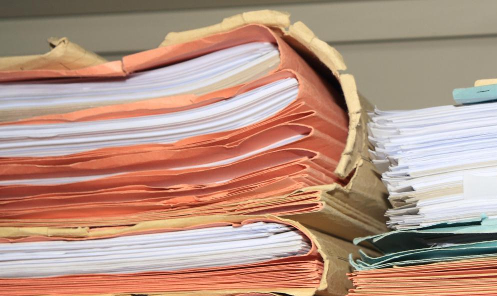 a stack of paperwork1